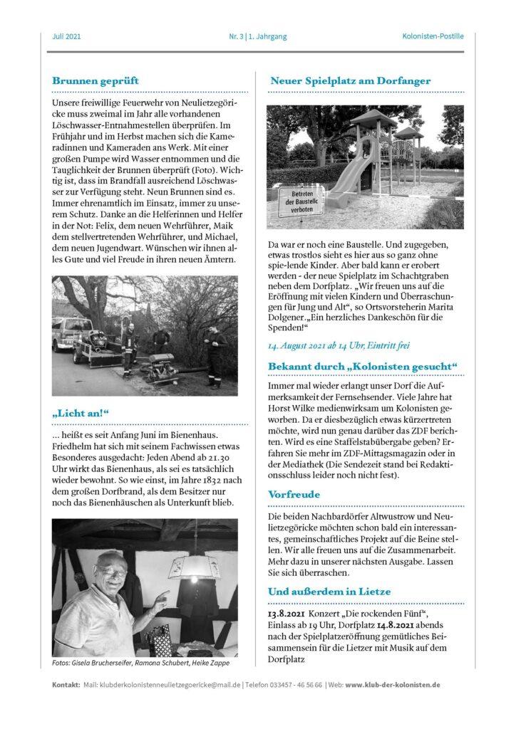 Kolonisten-Psotille Nr. 3, Seite 2